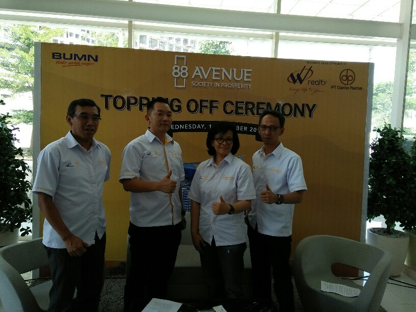 Megaproyek 88Avenue Gelar Topping Off 2 Tower